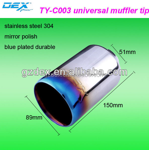 factory price hot selling blue plated universal car exhaust muffler tip Factory direct sale