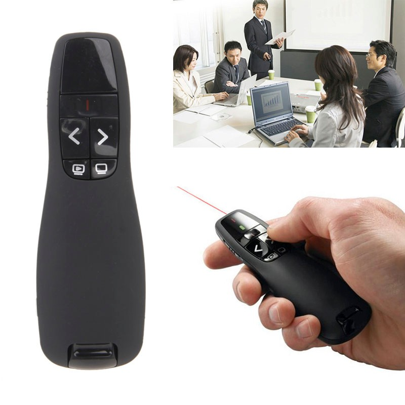 USB Wireless R400 PowerPoint Laser Pointer Presenter for PC Laptop Notebook