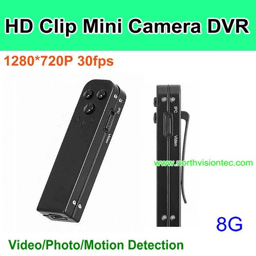 Digital Mini Clip Camera Mini DVR Camera Pinhole CCTV Camera