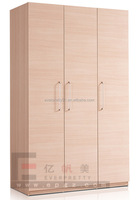 High Quality 3 Doors Wooden Wardrobe for Hotel Furniture
