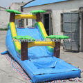 inflatable water games;water attraction dry wet slide with pool combo