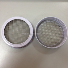 70mm stainless steel wire mesh white metal lid for mason jar