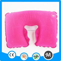 Newest inflatable pillow fashion pink u-shape air inflatable neck pillows