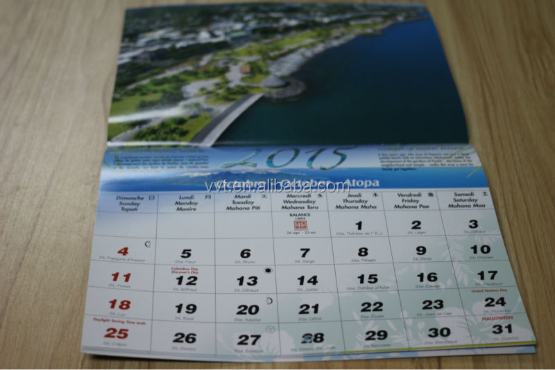 2014 new design paper table/wall/desk calendar/diaries