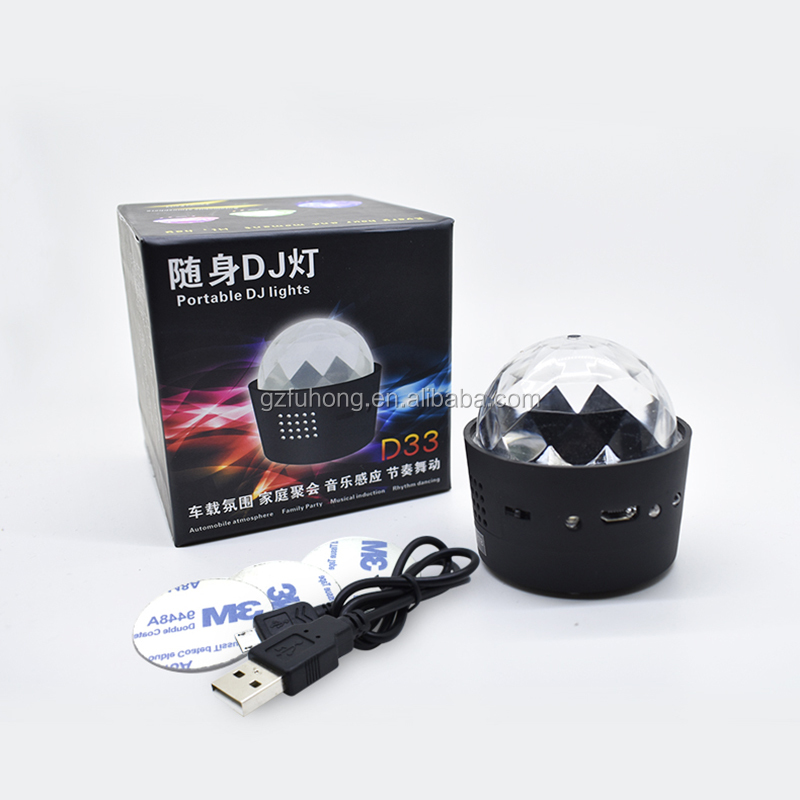new cool led rhythm strobe light with sound acticated disco ball car roof top ceiling star light