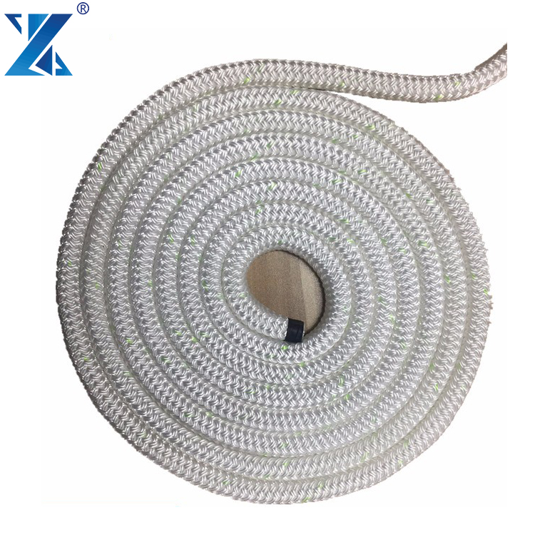 Quick delivery nylon double braided hawser mooring rope