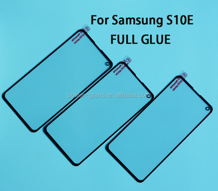 2.5D 9H Silk printing FULL Glue cover Tempered glass screen protector for Samsung Galaxy S10E S10 Lite