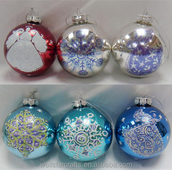 WellStar Factory wholesale custom make delicate printable glass christmas ball made in china
