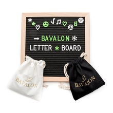 Wholesale art mind crafts wooden box 10X10 inches changeable slotted felt letter board with customized letter and file