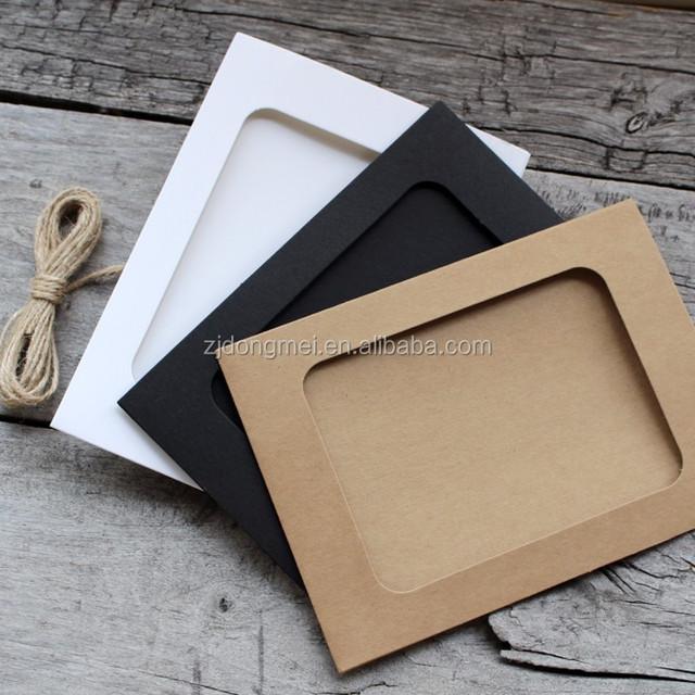 Customize 3/6/7inch photo card frame kraft paper