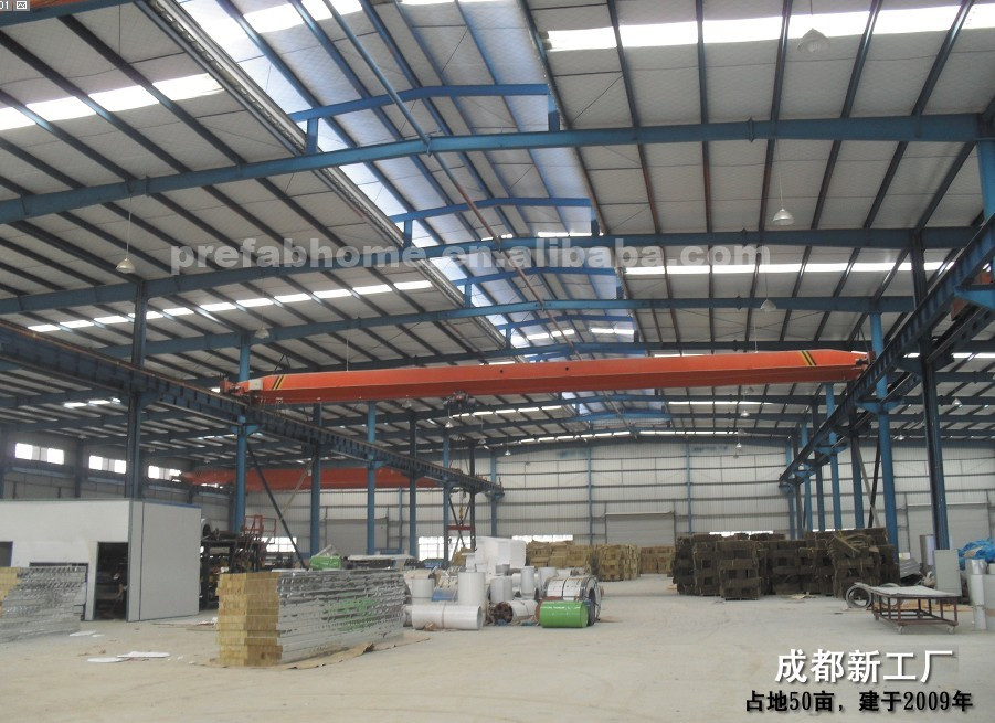 Large span high quality durable light steel structure prefabricated warehouse