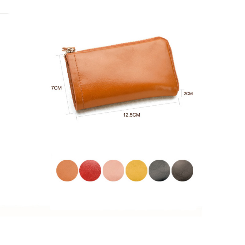 Foldable cover leather material key holder bag case