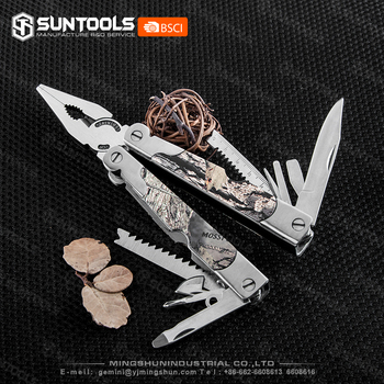 Outdoor functional camo coating handle Folding crimping pliers