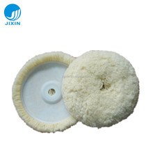 "7"" single-sided wool polishing pad for car care"