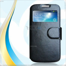 Flip leather phone case cover with window design for Samsung galaxy S4 Mini i9190 P-SAMI9190CASE001