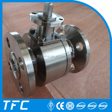 High quality API 6D 1 piece anti static flange blow-out stem ball valve