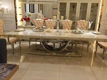 New model rustic foshan european style furniture dining table DH-1401