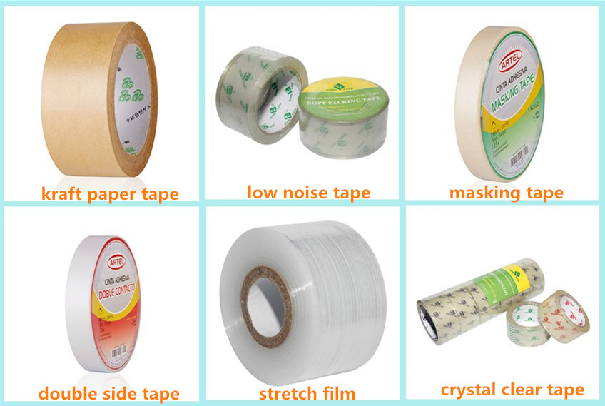 custom design Yellow hot melt adhesive bopp packing tape for company use