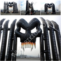 Giant customized halloween decoration inflatable skull arch