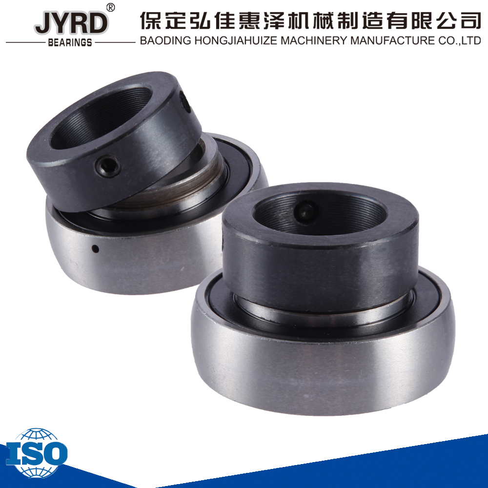 made in china baoding eccentric spherical ball bearing SA205 insert bearing with sleeve