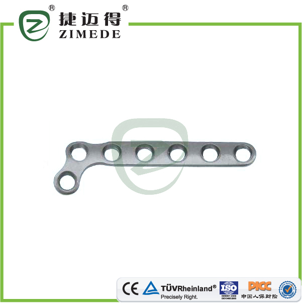 Titanium phalanx/metacarpal locking plate L shape orthopedic implants Medical Surgical Plates and Screws China Manufacturer