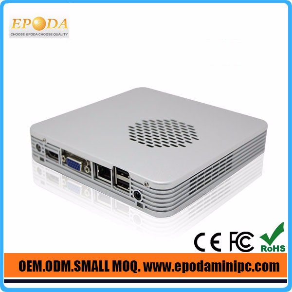 Barebone Mini PC Intel Celeron 1037U Dual Core CPU Fanless Industrial PC Gigabit Ethernet Dual NIC Cherry Trail PC