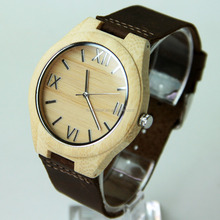 Men's Wooden Watch Bamboo Watch Fashion Wristwatch Can Add Logo Drop Shipping