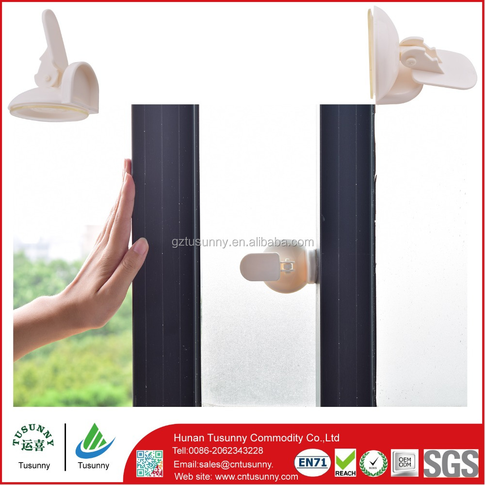 Suction cup plastic child window locks