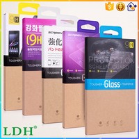 2016 new packaging + tempered glass screen protector For iphone Sony Samsung Motorola HTC LG