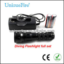 UniqueFire Magnetic Cree xml U2 led underwater lights torch