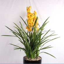 artificial flower gold orchid bonsai