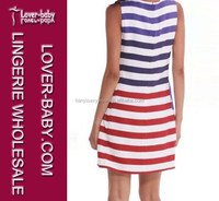 Keep Your Shaper Nicer Striped White Red Woman Bangkok Dress
