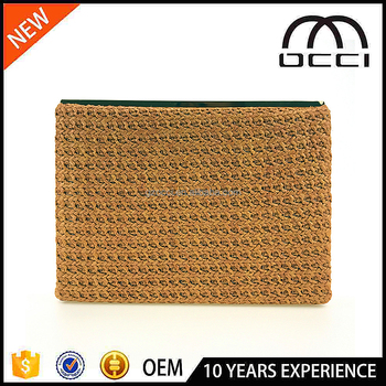 Guangzhou female bag factory straw wedding clutch bag OC3111