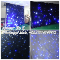 hot sales 3in1 rgb full color led star curtain light with sd card