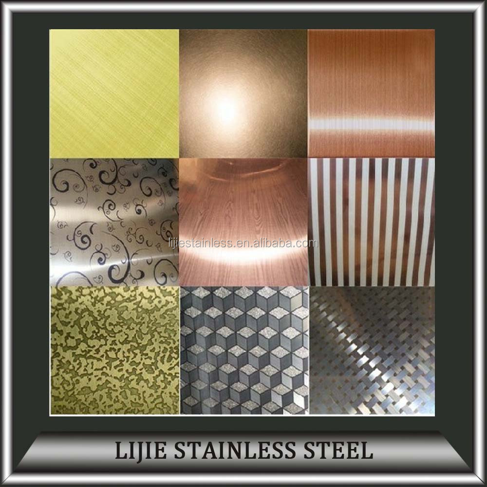 Color Coated <strong>Stainless</strong> Steel Decoration Sheets for Wall Decoration