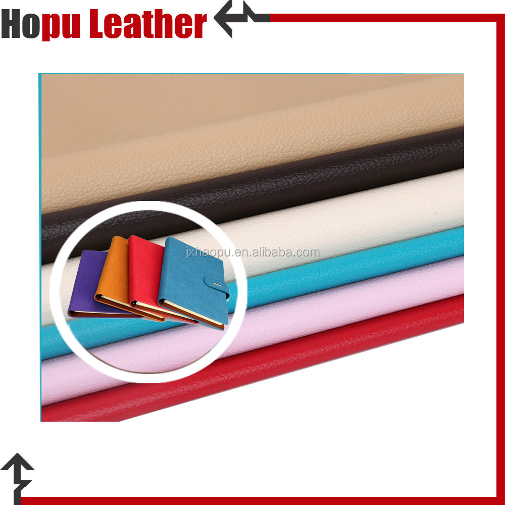 cheap artificial synthetic PU imitation leather for notebooks covers
