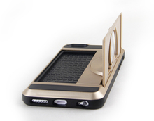 Hot selling fashional best price foldable stand phone cover case with stand for iphone6
