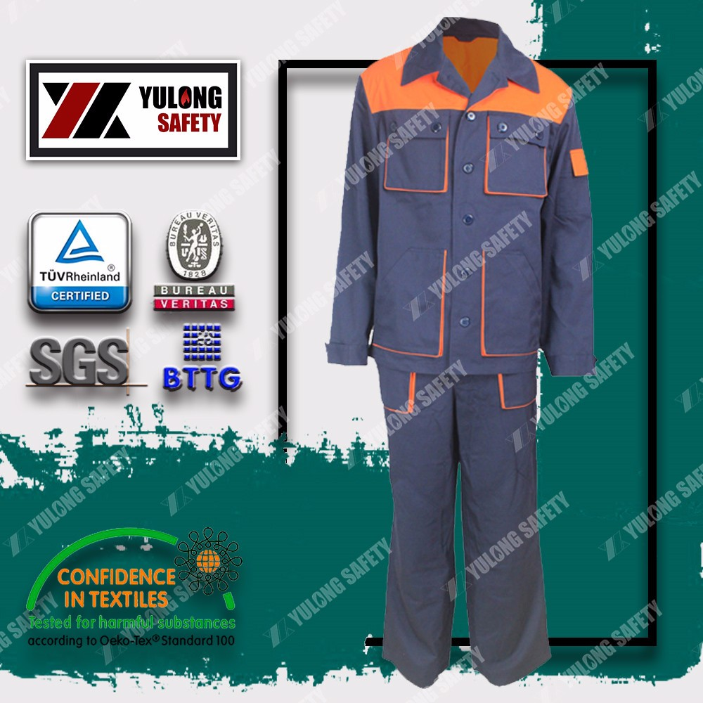 permanent flame retardant anti static oil refinery work wear
