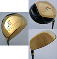Nonconforming Casting Golf Driver with gold plating