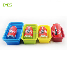 China manufacturer silicone foldable food storage container