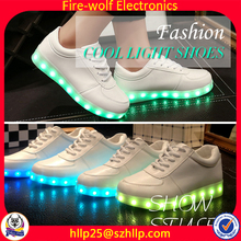 hot sale usa Anpu led wearing sneakers laced up led shoes for women light up led shoe rechargeable