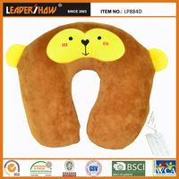 Plush Super-Soft Monkey Travel Neck Pillow stuffed 100%polyestyrene beads
