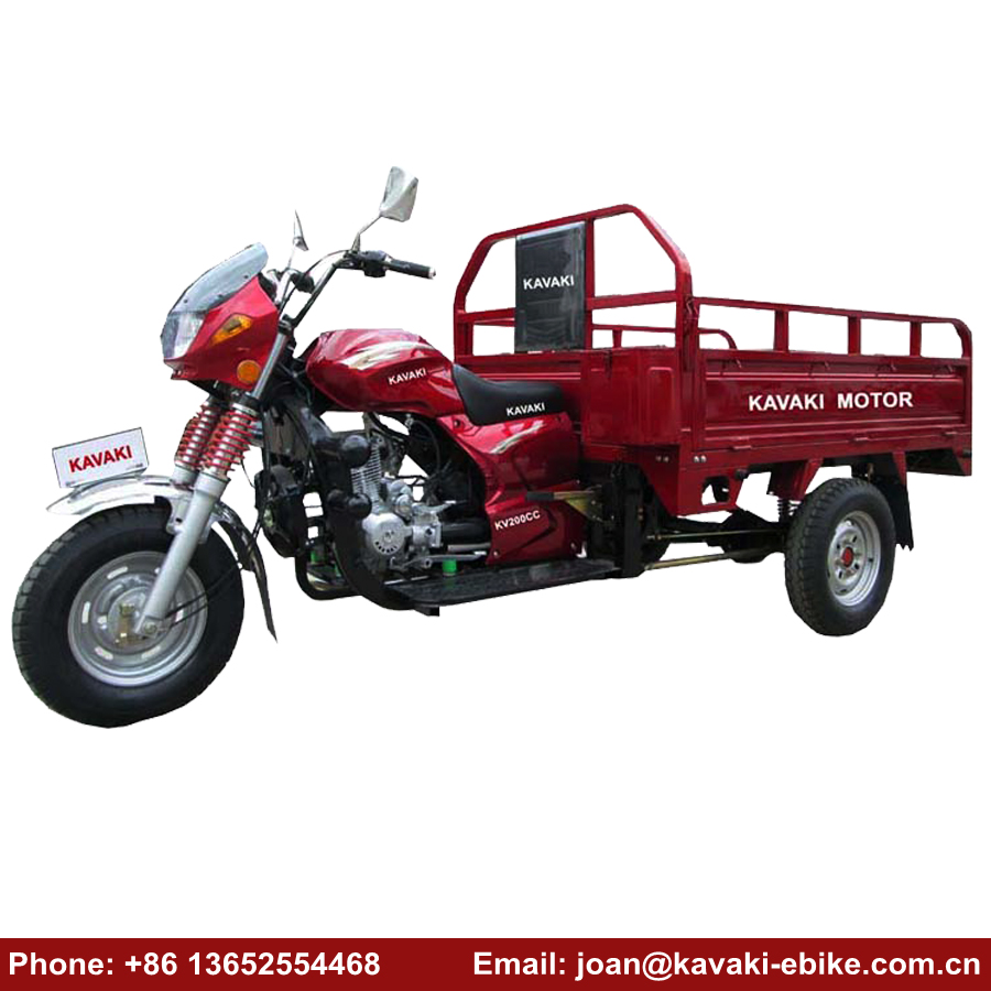 Chinese Bajaj Three Wheeler Auto Rickshaw Low Price Motorcycle 200cc Engine Bike Taxi for Sale