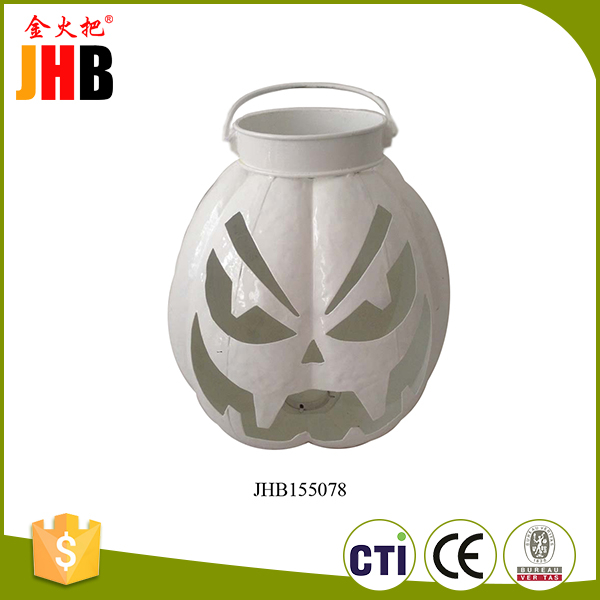 Fujian manufacture metal white harvest holiday pumpkin decoration