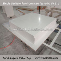 High gloss filishing composite resin table top for dining tables