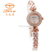 2015 hot sell retail alloy bracelet watch wrist watch color stone for ladies