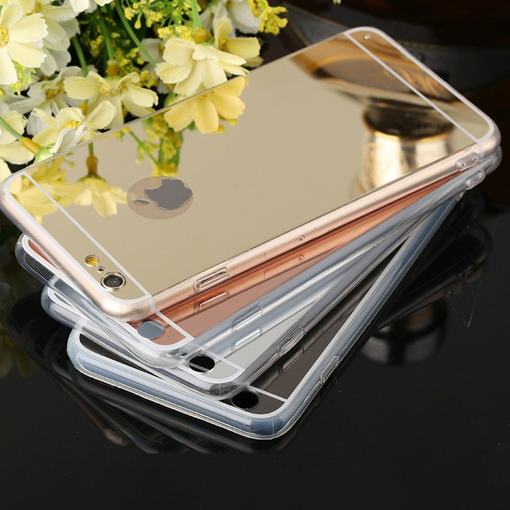 2016 New product TPU cell phone case with mirror soft and elegant back cover scratch-resistance phone shell