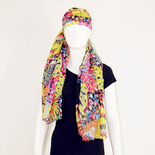 Cheap Full Color Printing Head Stoles from China Scarf Supplier in Polyester Voile