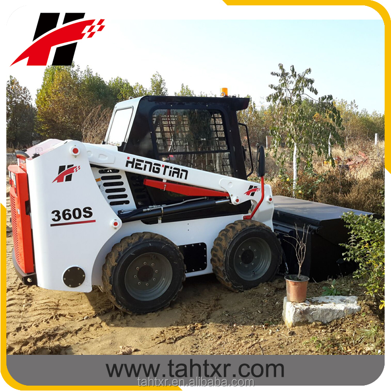 skid steer loader quick attachment of collect sweeper