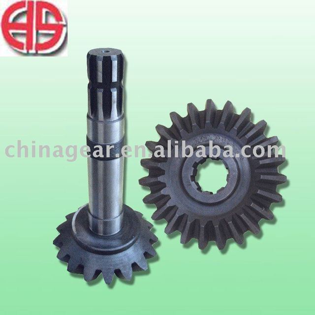 Agricultural machine component rototiller shaft